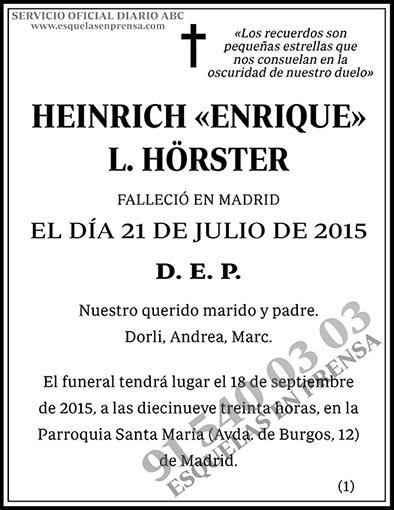 Heinrich Enrique L. Hörster